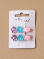 Colourful double flower beak clips (Code 3101)